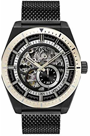 HUGO BOSS Watch Mens Skeleton Automatic Watch with Stainless Steel Strap 1513655