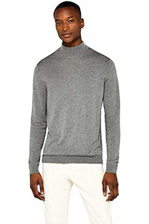 find. Merino Wool Mix Turtle Neck Jumper, Charcoal Marl