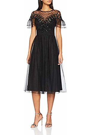 Frock and Frill Women's Embellished Dress with Cap Sleeves Party
