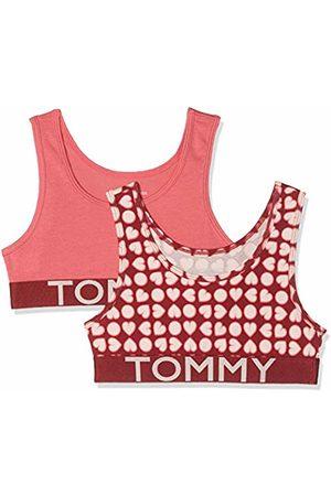 Tommy Hilfiger Girl's 2p Bralette Heart Print Bustier