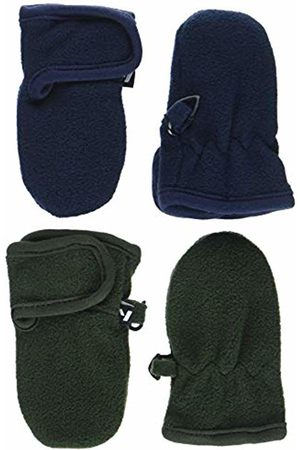 Name It Boy's Nbmmar Fleece 2p Mitten Fo Gloves, Pack:Pack As 2 Pack W. Forest Night & Sky Captain