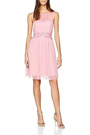 Little Mistress Women's Rose Prom with Trim Party Dress