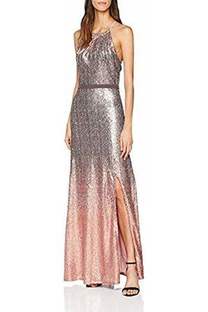 Little Mistress Women's Ombre Sequin Maxi Dress, (Rose)