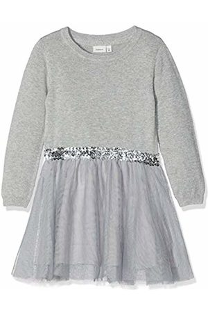 Name it Girl's Nkfralukka Ls Knit Dress Noos ( Melange)