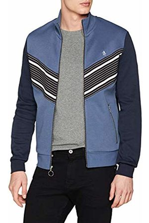 Original Penguin Men's Chevron Stripe Track Jacket, (Vintage Indigo)