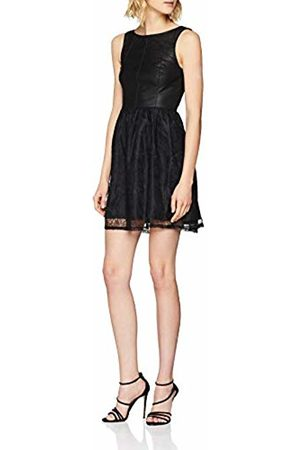 Only Women's Onlstella Faux Leather Lace Dress OTW