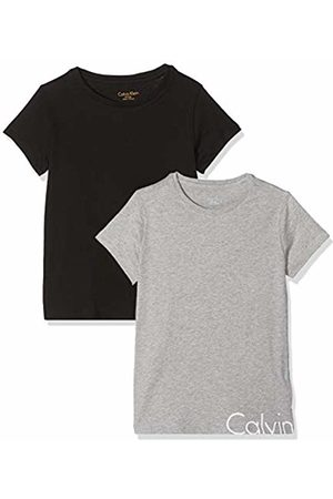 Calvin Klein Girl's 2pk Ss Tees T-Shirt, Heather/ 1 090