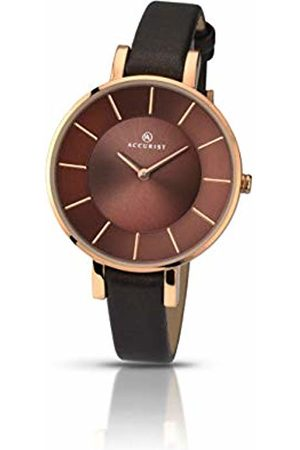 Accurist Womens Analogue Classic Quartz Watch with Leather Strap 8088.01