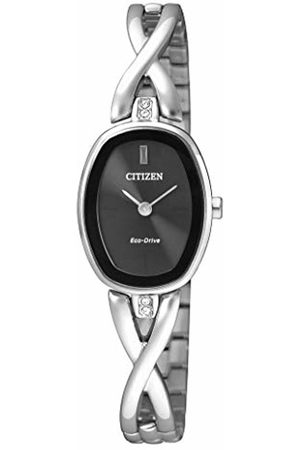 Citizen Womens Analogue Classic Solar Powered Watch with Stainless Steel Strap EX1410-88E