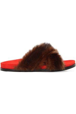 AVEC MODÉRATION Women Sandals - 20mm Faux Fur Slide Sandals