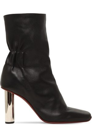Proenza Schouler Women Ankle Boots - 100mm Leather Ankle Boots W/ Metal Heel