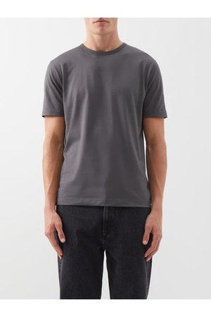 Sunspel Pima Cotton-jersey T-shirt - Mens - Dark