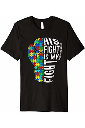 Autism Awareness shirt His Fight Is My Fight Shirt Boxing Glove Autism Puzzle Pieces