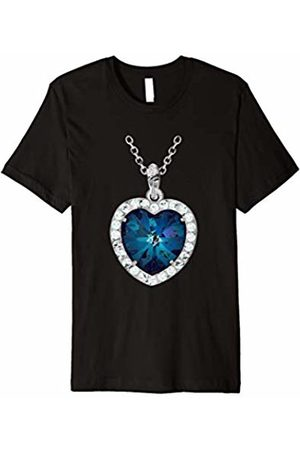 Titanic Lovers T Shirts Titanic Costume T shirt Gift Heart Of The Ocean Necklace
