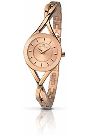 Accurist Womens Analogue Classic Quartz Watch with Brass Strap 8137.01