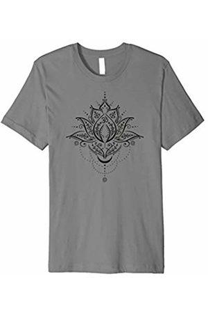 Yoga Harmony Shirts, christine-krahl Lotus Flower with Moon and Om Symbol. Yoga Harmony Shirt.