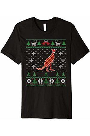 Ugliest Christmas Party Shirts Ugly Christmas Pajama Kangaroo Santa Hat T-shirt