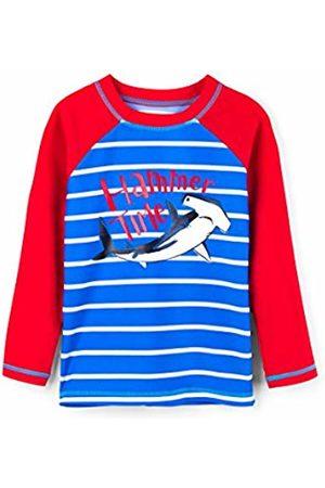 Hatley Boy's Long Sleeve Rash Guards Swimsuit, (Hammerhead Shark)