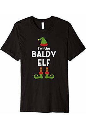 Silly Christmas Elf Tees Baldy Elf T-shirt Funny Christmas Pajamas for Bald Men