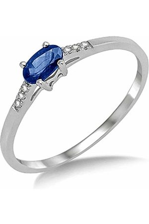 Miore 9ct Blue Sapphire and Diamond Engagement Ring SA984R - Size M