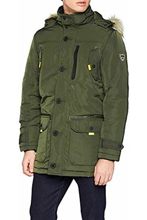 Solid Men's Jacket - Stanton Hooded Long Sleeve Parka - Green - Medium
