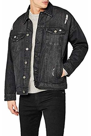 Urban classics Men's Ripped Denim Jacket