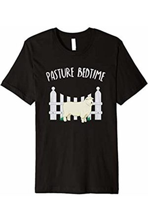 BUBL TEES Pasture Bedtime Funny Cute Sheep Pajamas PJ T Shirt