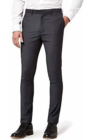 Hem & Seam Men's Super Skinny Fit Tonic Formal Trousers