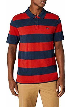 Levi's Men's Housemark Polo Shirt, (Rugby Dress Blues/Aura 0073)