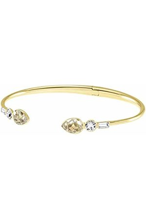 Swarovski Women's Gold Plated Multi-Coloured Mix and Match Bangle