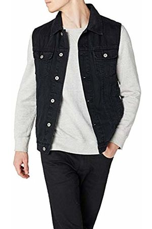Urban classics S Men's Denim Vest Quilted Sleeveless Gilet