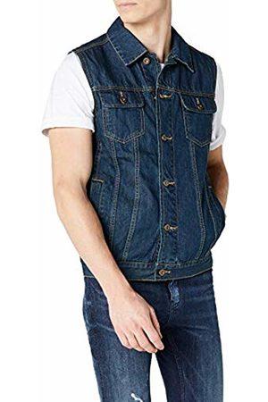 Urban classics S Men's Denim Vest Quilted Sleeveless Gilet