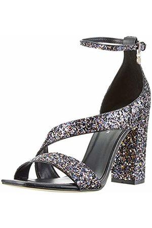 KAREN MILLEN Fashions Limited Women's Glitter Block-Heel Sandals Open Toe ( /Multi 02)