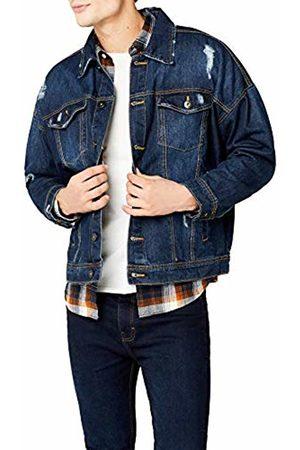 Urban classics Men's Ripped Denim Jacket ( Washed)