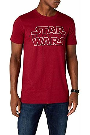 STAR WARS Men's Last Jedi Logo T-Shirt, (Antique Cherry )