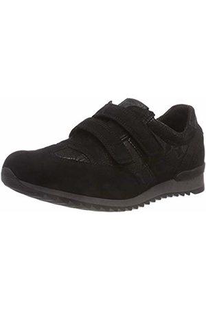 Waldläufer Women's Hurly-Soft Loafers, (Denver Disstretch Glitter Schwarz Nero 001)