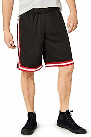 Urban classics Men's Stripes Mesh Shorts Plain Short