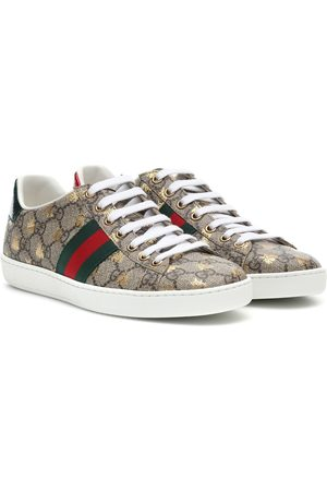 Gucci Ace leather-trimmed printed sneakers