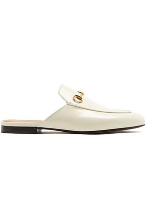 Gucci Women Loafers - Princetown Leather Backless Loafers - Womens
