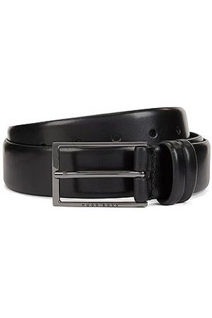 HUGO BOSS Men Belts - Two-tone belt in vegetable-tanned leather