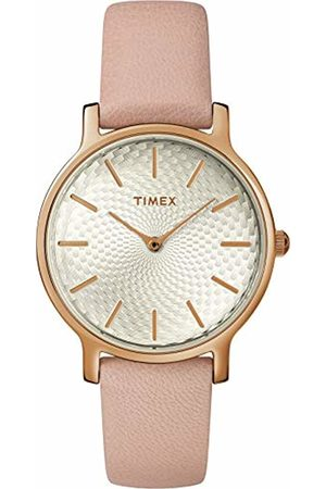 Timex Womens Analogue Classic Quartz Watch with Leather Strap TW2R85200
