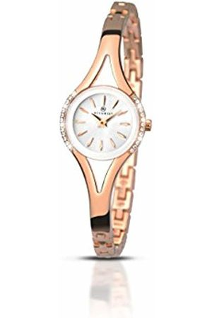 Accurist Womens Analogue Classic Quartz Watch with Brass Strap 8135.01