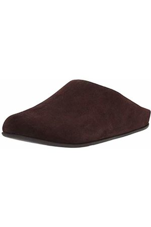 FitFlop Men's Shove Mule Leather Open Back Slippers, (Chocolate 167)