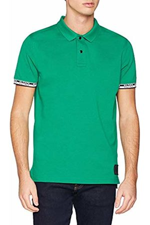 Tommy Hilfiger Men's Heather Badge Regular Polo Shirt, (Ultramarine HTR 300)