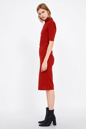 Zara PENCIL DRESS WITH BELT