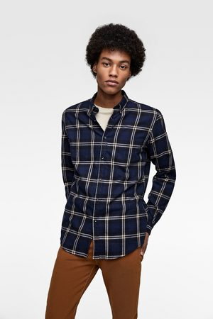 Zara CHECK FLANNEL SHIRT
