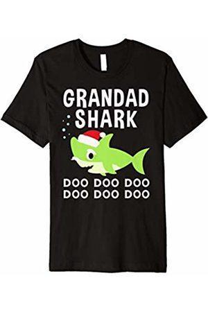 Christmas Shark Family Shirts Grandad Shark Christmas Shirt for Matching Family Pajamas