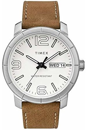 Timex Mens Analogue Classic Quartz Watch with Leather Strap TW2R64100