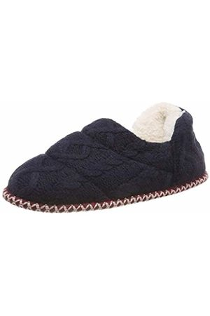 Dearfoams Women's Quilted Cable Knit Bootie Hi-Top Slippers