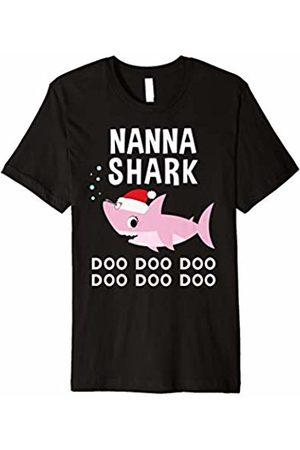 Christmas Shark Family Shirts Nana Shark Christmas Shirt for Matching Family Pajamas